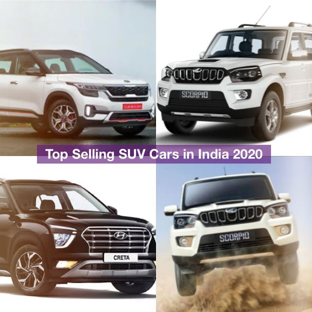 Top Selling SUV Cars in India 2020