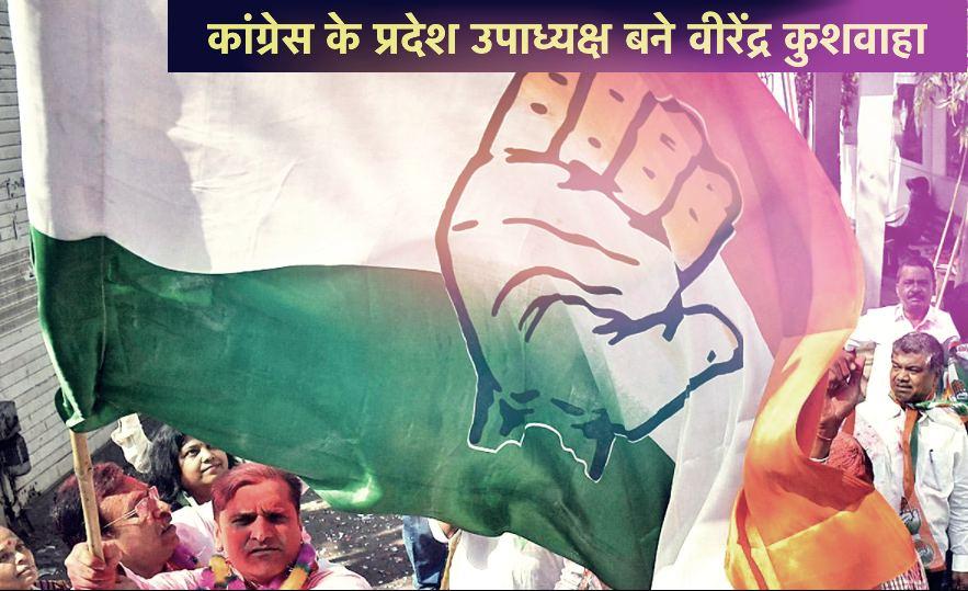 Virendra Kushwaha became state vice-president of Congress - Maihar, Satna News