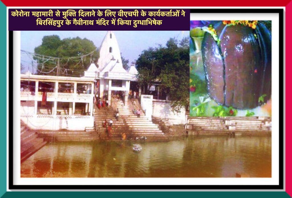 Satna News - Worship was done at the Gaivinath Temple to get rid of the corona epidemic - Birsinghpur News